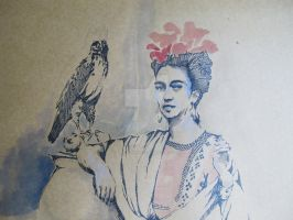 Frida Kahlo by marie-farges