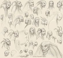 Snake Giant Sketches 2 by Kipestshin
