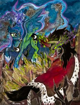 Fight for the Crystal Empire by Arnne