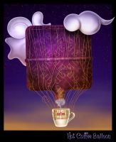 Hot Coffee Balloon by son-of-a-biscuit