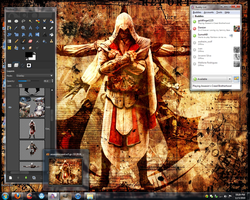 Current Desktop of the Creed by Candido1225