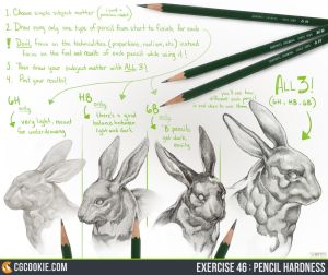 Exercise Worksheet - Pencil Hardness by CGCookie