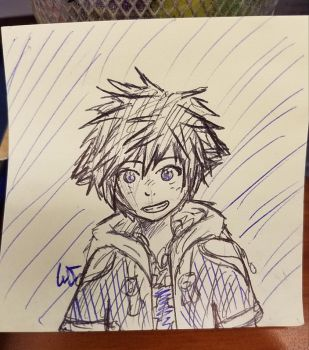 Messy Sora Doodle by FluffyCamellia