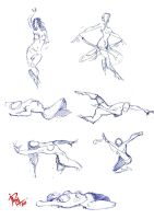 30 seconds female ball pen sketches 2 by mashachruah