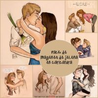 Pack de imagenes en caricatura de Jelena by GabiEditions12