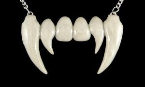 Vampire Teeth Necklace by NeverlandJewelry