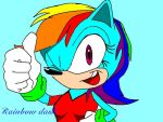 Rainbow_dash_ sonic version by zachthehedgehog97-2