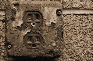 Rusted Wall Outlet by PAlisauskas