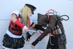 HARLEY QUINN and SCARECROW ARKHAM KNIGHT COSPLAY by arydiabolika