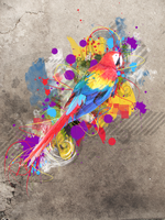 ABSTRACT PARROT by RebeckaVigil