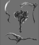 Weapon Sketches by BABAGANOOSH99