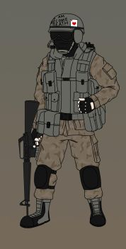 Dementophobia Concept Art- 'Nam Operator by BloodySoldier007