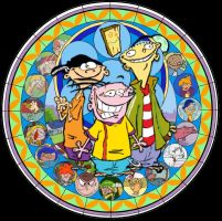 Ed, Edd n' Eddy Kingdom Hearts Stained Glass by TrefRex