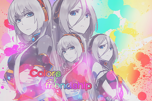 Colors of friendship by Pink-Snowbunny