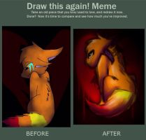 Draw this again! Meme : What Hurts the Most by embae