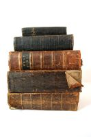 Stock - Pile of Old Bibles 1 by OghamMoon