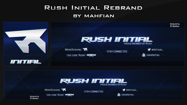 Rush Initial Rebrand by VintagePeon