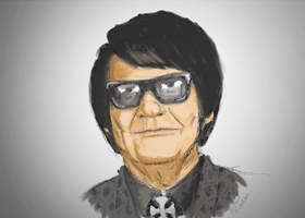 Roy Orbison Watercolour by TheBigDaveC