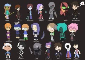 Beta Games Chibi Auditioneers by Bored-dood