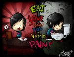 Eat LOVE and you vomit PAIN by Cloud-Elros