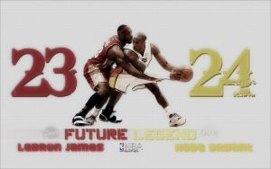 Kobe Bryant Lebron James wallp by M2tu