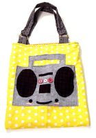 Boombox Tote by deconstructedstars