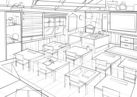 Classroom Concept Art by nataliebeth