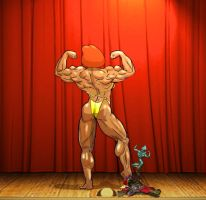 Lois Ms. Olympia Victory Pose by grabowski2