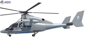 Eurocopter X3 Helicopter Model by Gandoza