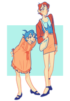 Manami and Ashikiba by MeelaDot