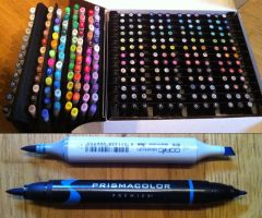 Copic and Prismacolor Marker Collection by yuureikun