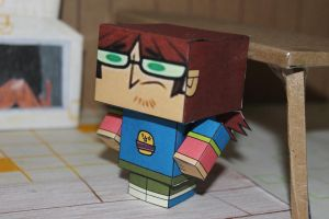 Harold from Total Drama cubecraft figure by ViluVector