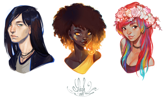 bust commissions by loish