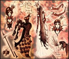 Concept Art: Queen Rifelia, the Twisted and Crazed by MadRoseKai