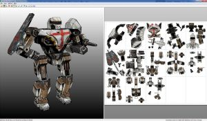 MekTek_Black_Knight_Papercraft by monkeyrum