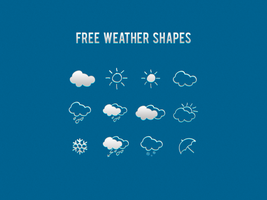 Free Weather Shapes by xara24