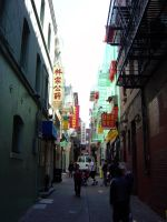 San Francisco Chinatown alley by dp-designs