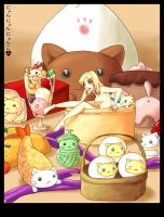Feasted Nyanko Dreams by bourgogne