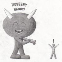 It's a Rubber Band Monster by Athelwulf