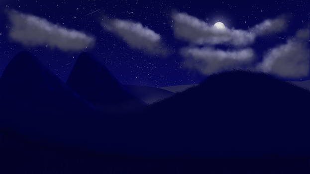 Landscape Night. by SpeedArtSA