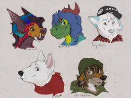 Some Headshot Commissions by gabdraws