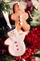 Christmas tree cookie decoration by kupenska