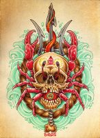 Crab Skull by mr-biggs