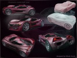 Axanos concept car by koleos33