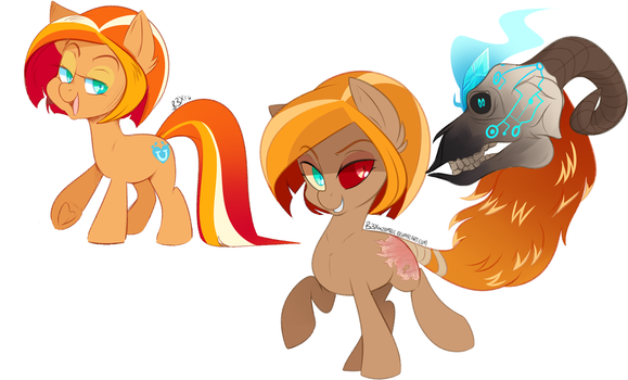 (OPEN) (ADOPT) Cursed Pony Tail-Skull by zombie