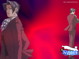 Wallpaper Miles Edgeworth by Noeyop