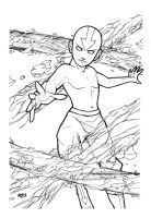 Aang on fire by ReneFelem