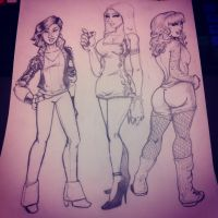 Ladies from Supers by ArtbyJ-Ro
