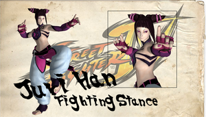 Juri Han Fighting Stance by TRDaz