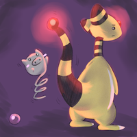Ampharos and spoink